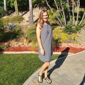 H&M Black and White Striped Sleeveless Dress
